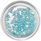 Nechtové ozdoby s perleťou - tyrkysovo modré trojuholníky