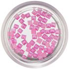 Perleťové ozdoby v tvare štvorca - ružové