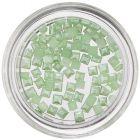 Perleťové ozdoby v tvare štvorca - svetlozelené