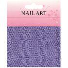 Nail art - sieťka na nechty, fialová